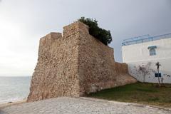 Hammamet Medina fortified walls, Tunisia Stock Photos