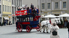 Tourist carriage in Dresden, Germany Stock Footage