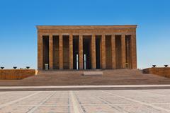 Mustafa Kemal Ataturk mausoleum in Ankara Turkey Stock Photos