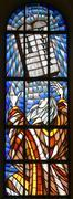 Moses and Ten Commandments - stock photo