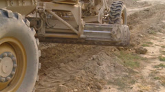 US-Army - Base Engineers - Afghanistan Bagram - Construction Vehicle driving 05 Stock Footage