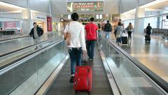 Las Vegas, USA, McCarran international airport interior. Stock Footage