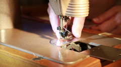 sewing machine manual - stock footage