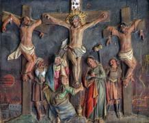 Jesus dies on the cross - stock photo