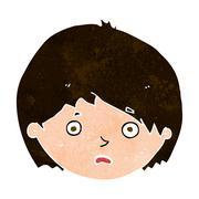 cartoon unhappy boy - stock illustration