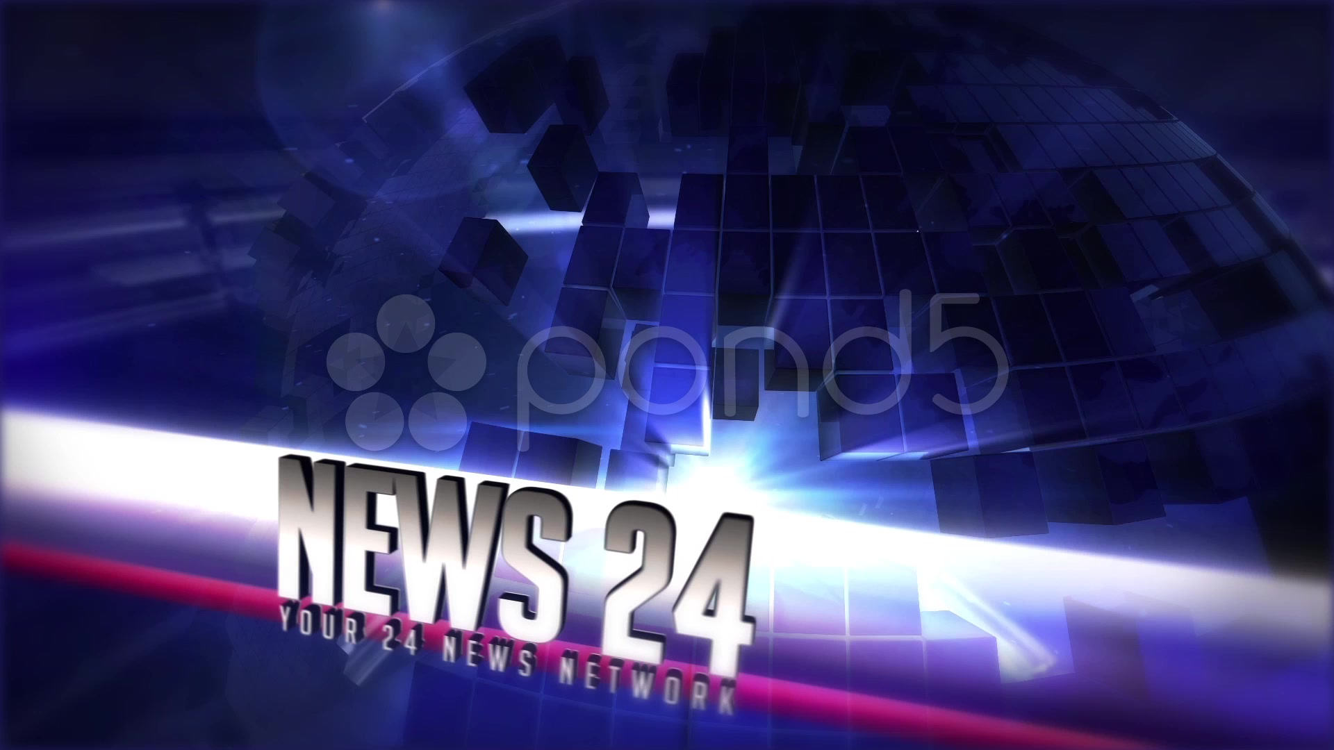 After Effects Project - Pond5 Broadcast News 24 complete package 37503569
