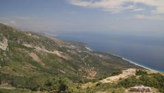 DHERMI, ALBANIA COAST MOUNTAIN SEA Stock Footage