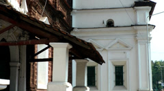 India Goa District Margao City 011 old houses corners Stock Footage