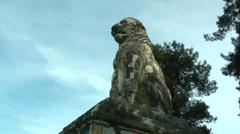 Ancient Greek lion statue Amphipolis (2). Stock Footage