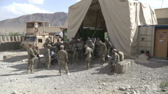 US-Army - Infantry Division - Chora Valley Afghanistan - Briefing 01 Stock Footage