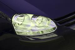 car headlight. - stock photo
