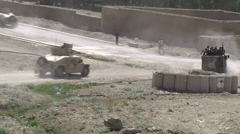 Stock Video Footage of US-Army - Infantry Division - Chora Valley Afghanistan - Light armored convoy 02