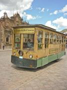 Ancient tourist bus in the city of cusco Stock Photos