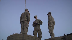 US-Army - Infantry Division - Chora Valley Afghanistan - Removing Flag 04 Stock Footage