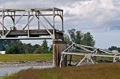 SKAGIT COUNTY, WA – MAY 23 – Skagit County I5 Bridge Collapse - stock photo