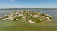 Chokoloskee Island Aerial 2.7K Footage, South West Gulf Coast of Florida Stock Footage
