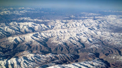 Slow flyover mountains southwest of Kabul, Afghanistan. Stock Footage