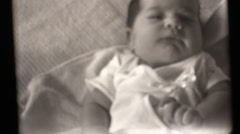 New born baby, Black and white film Stock Footage