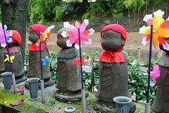 Jizo statues - stock photo
