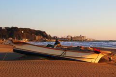 Kamakura beach - stock photo