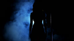 HD1080 Beautiful Girl Dancing Lap Dance on stage. Part 6. Stock Footage