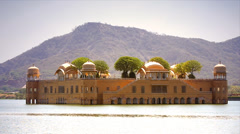 Jal Mahal is a palace located in the middle of the Man Sagar Lake, India. Stock Footage