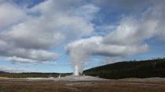 Old Faithful Eruption - stock footage