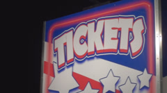 Carnival Ticket Booth Sign Stock Footage