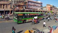Time lapse of traffic conditions during afternoon 'rush hour' in Jaipur, India. - stock footage