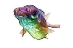 Fractal telescope fry goldfish Stock Illustration