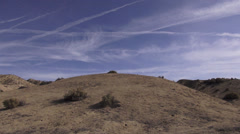 San Andreas Fault Time Lapse - Carrizo Plain Stock Footage