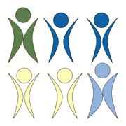 Stock Illustration of movement of people