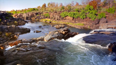 A beautiful wide angle view of a waterfall in Bandhavgarh, India. - stock footage