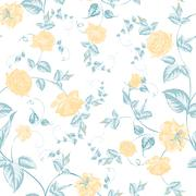 Stock Illustration of Seamless texture of roses for textiles