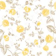 Stock Illustration of Seamless texture of pastel roses for textiles