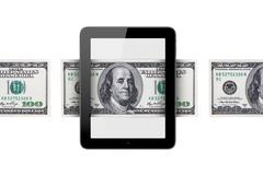 Stock Illustration of banknote around tablet