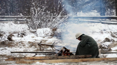 Winter military Stock Footage