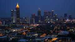 Downtown Atlanta skyline, Georgia, United States of America Stock Footage
