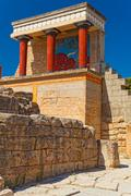 Northern entrance to knossos palace, island of crete Stock Photos