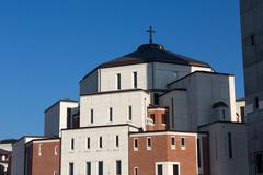 cracow , lagiewniki - the centre of pope john paul ii. - stock photo