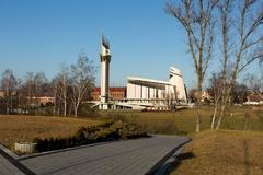 cracow , lagiewniki - the divine mercy sanctuary, - stock photo