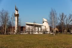 cracow , lagiewniki - the divine mercy sanctuary - stock photo