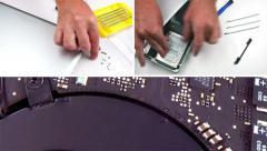 Laptop Repair - Multi-screen Montage - stock footage