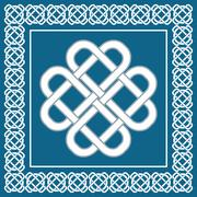 Celtic love knot,symbol of good fortune,vector illustration Stock Illustration