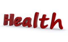 Health word concept. 3d illustration Stock Illustration