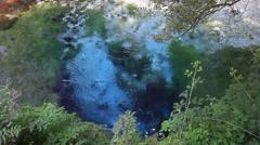 THE BLUE EYE (SYRI I KALTER) WATER SPRING ALBANIA Stock Footage