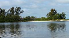 Small scenic Florida island Stock Footage