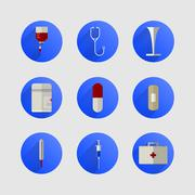 Icons for medicine Stock Illustration