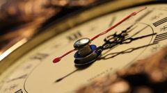 A Clockface close up footage Stock Footage