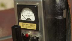 Geiger Counter from 1950s Era Cold War Tilt Up Close-up Stock Footage